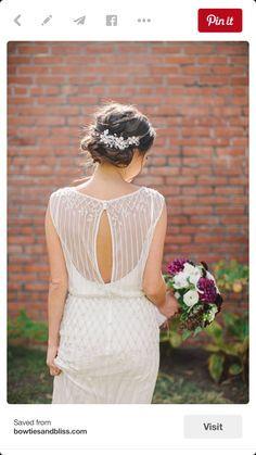 25 keyhole wedding dress ideas for a subtle & sexy bridal look
