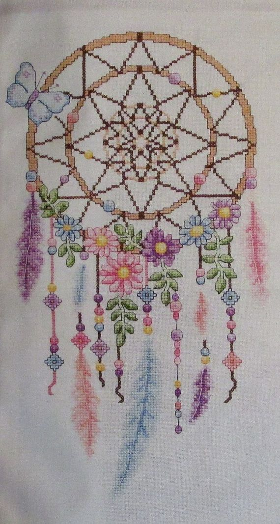 Delightful Dreamcatcher Cross Stitch Chart Design Pattern