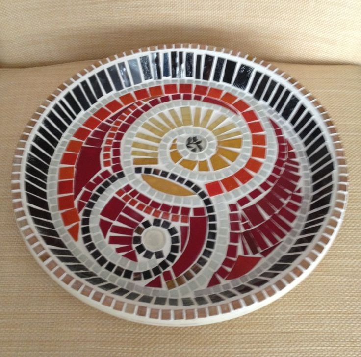 Mosaic plate The 136 best Mosaic Dishes