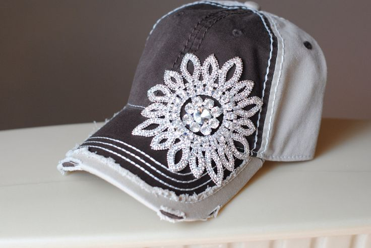 A personal favorite from my Etsy shop https://www.etsy.com/listing/236138617/womens-baseball-hat-trucker-bling-hats