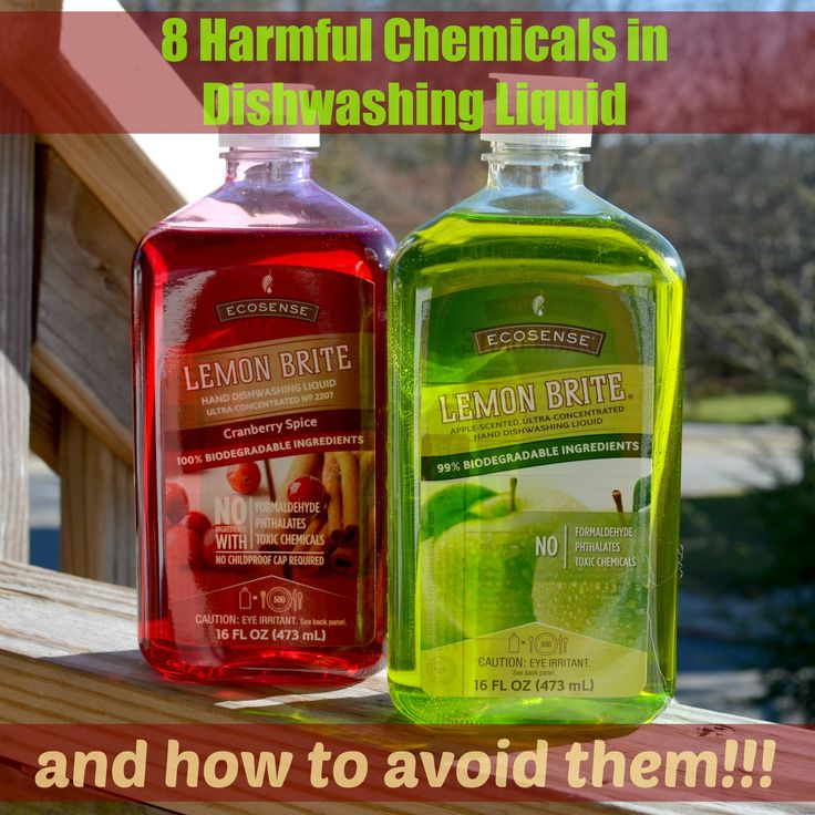 8 Harmful Chemicals in Dishwashing Liquid and How To Avoid Them ⋆ The Stuff of Success