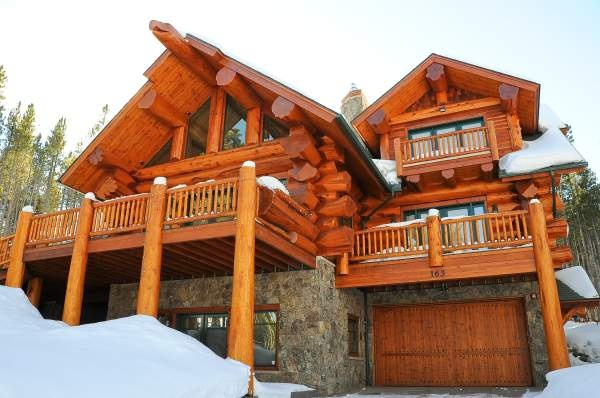 Pioneer log homes pioneer log homes of bc western red How to stain log cabin