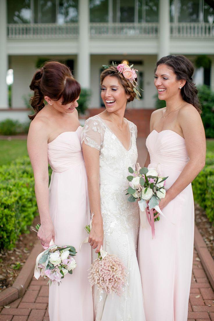The 25 best light pink bridesmaids ideas on pinterest pink romantic outdoor wedding at the winfield inn ombrellifo Gallery