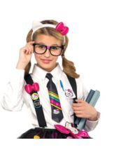 Hello Kitty Nerd Accessory Kit for Tween Girls - Party City That's what I want to be for Halloween