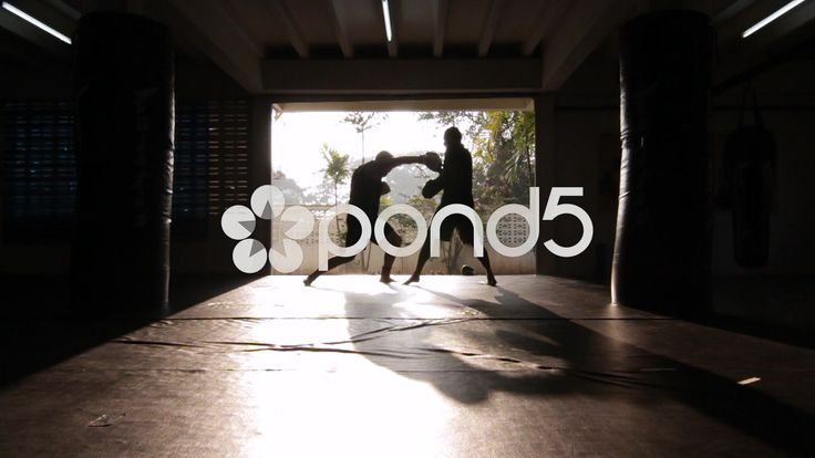 2 Fighters Boxing Training Silhouette Slow-Motion Gym - Stock Footage   by RyanJonesFilms #muaythai #athlete #fitness #fight #boxing #training #padwork #mma #motivation #sport #gym #combat #video #silhouette