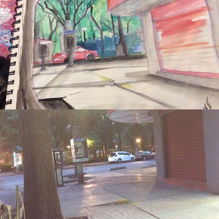 Streets! 20 min practice #watercolor #sketch #drawing #doodle #draw #illustration #outdoors #urban #urbanstyle #instagood