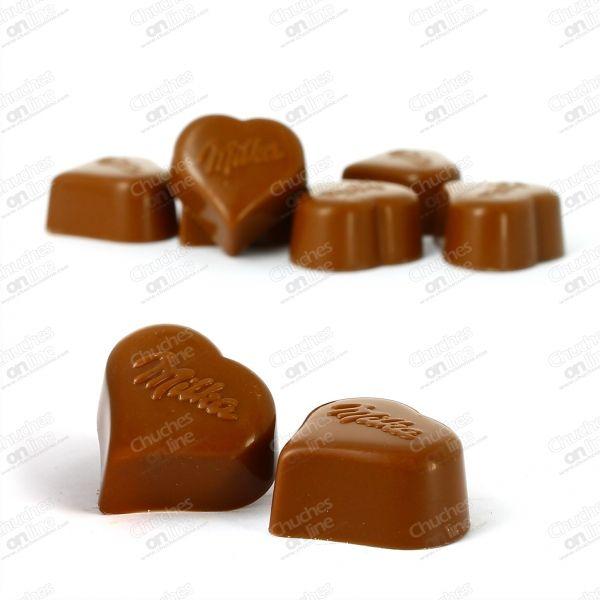 BOMBON I LOVE MILKA PRALINES - Chuches online | Tienda de chuches, caramelos, golosinas, chocolates y frutos secos