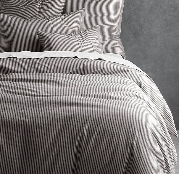 Garment-Dyed Ticking Stripe Duvet Cover Sale $145.99 - $279 Select Items On Final Sale. Restoration Hardware