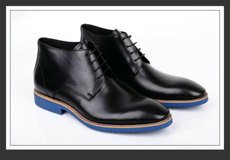 Free shipping new 2014 men leather ankle boots snow boots genuine leather men's leather boot,blue sole fashion shoes 38-45 $487.00