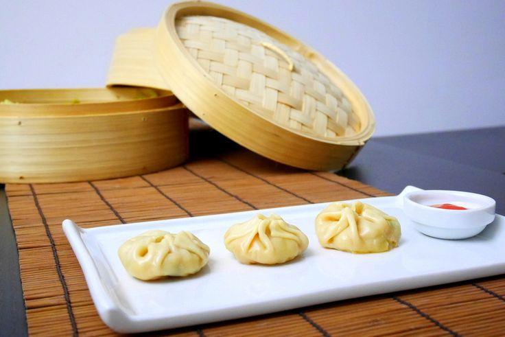 Ravioli cinesi di gamberi al vapore