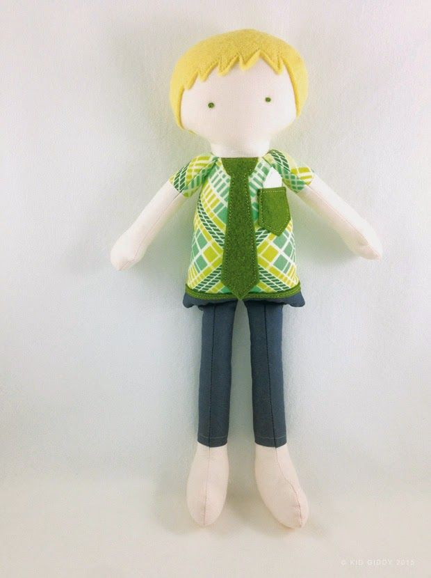 @Sizzix Kid Giddy Doll dies available now. Make any kind of doll you want - here's a Boy version inspired by the tie and pocket available on the die itself. Other accessories come with the die too.