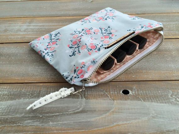 Roller Essential Oil Bag case storage carrying by Cowgrlcreations