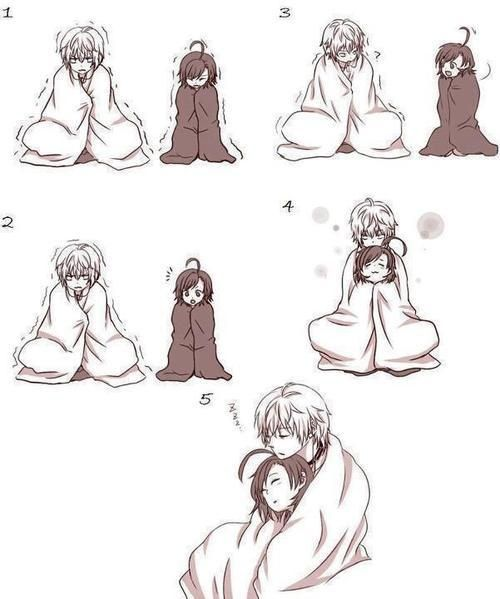 Cute anime couple Cuddling (So something Eri would do...not sure with who though.)
