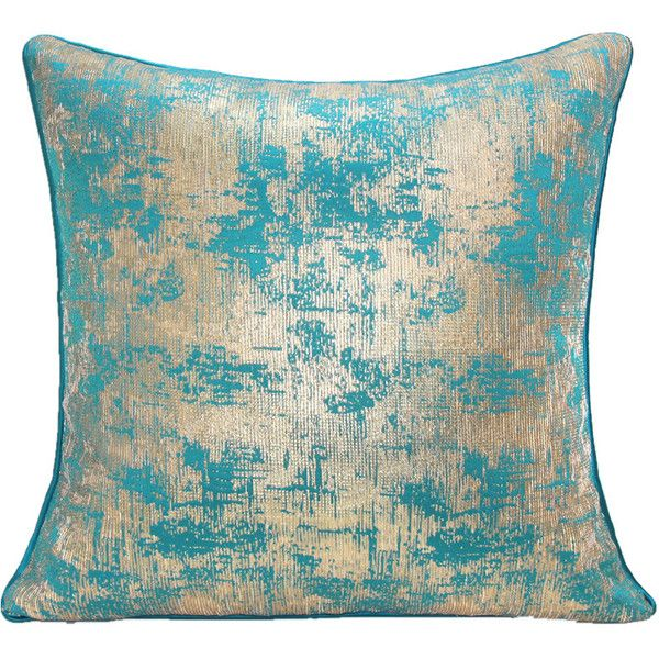 ATD CASA Modern Nordic Light Blue Silver Throw Pillow Polyester Fi... ($44) ❤ liked on Polyvore featuring home, home decor, throw pillows, pillows, home textiles, throws & pillows, polyester throw pillows, silver home accessories, baby blue throw pillows and light blue home decor