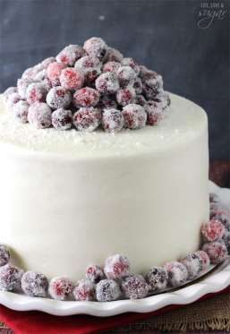 For those who love white chocolate, this cake is topped with sweet cranberries — which also fill up ... - Life, Love & Sugar