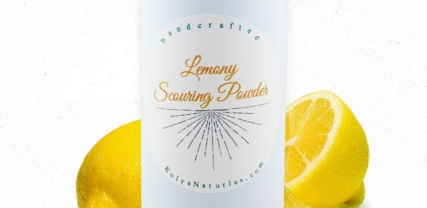 DIY Lemon Scouring Powder- perfect for home natural cleaning solutions