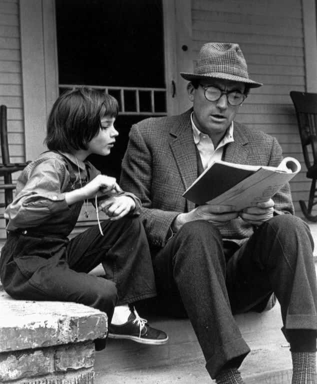 """Gregory Peck in """"To Kill a Mockingbird."""""""