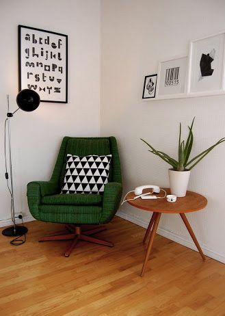 reading area - Via RareRina | Midcentury