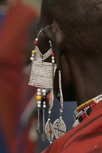 Africa | Close-up of a Masai woman's earring. Tanzania | ©Roy Toft