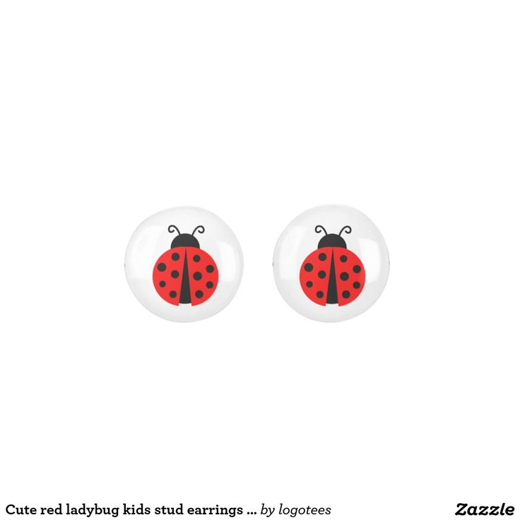 Cute red ladybug kids stud earrings for girls. Regalos, Gifts. #DiaDeLasMadres #MothersDay