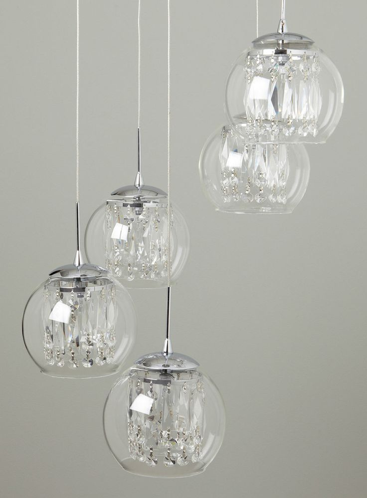 Smoke Nakita Cluster Pendant - ceiling lights - Lighting - BHS