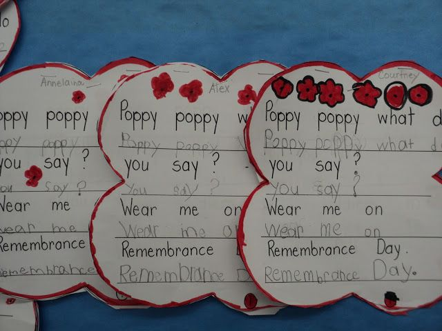 Grade ONEderful: Remembrance Day Activities