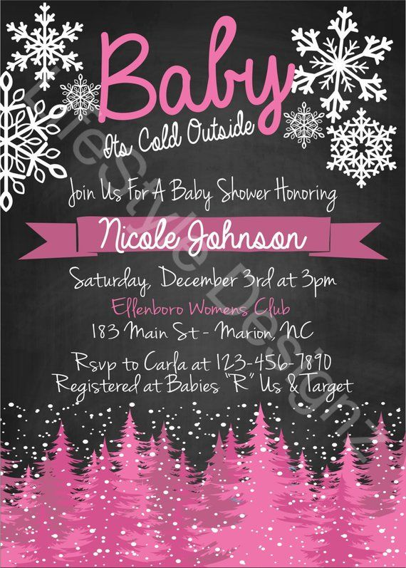 Baby Its Cold Outside Baby Shower Invitation - Winter Wonderland ... 8e2cce858e