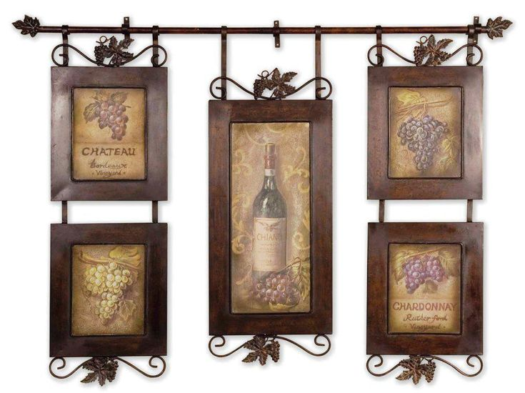 awesome Wine Decor For Kitchen #3: Wine Themed Tuscan Kitchen Wall Decor Ideas