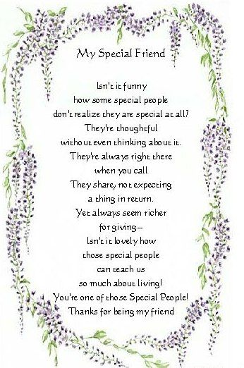 Special Friends poems | special friend