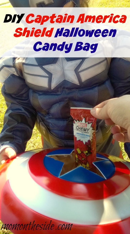 DIY Captain America Shield Halloween Candy Bag
