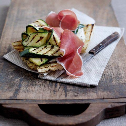 Piadina, grilled zucchini and ham. Photo by @officinateodora [ #ravenna #myRavenna]
