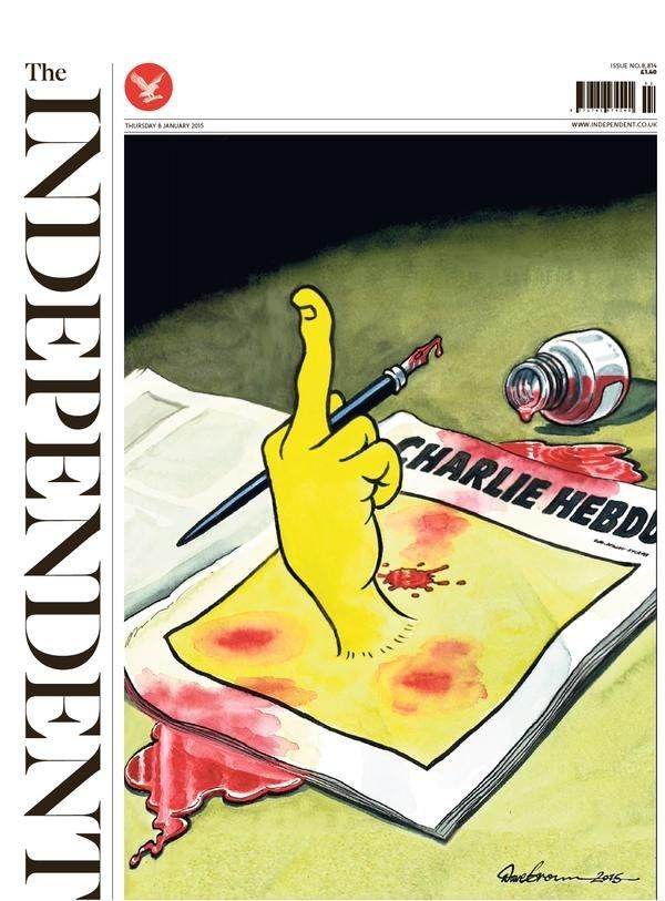 The Independent - 8th January 2015 | Here Are The 10 Most Popular 2015 Newspaper Front Pages