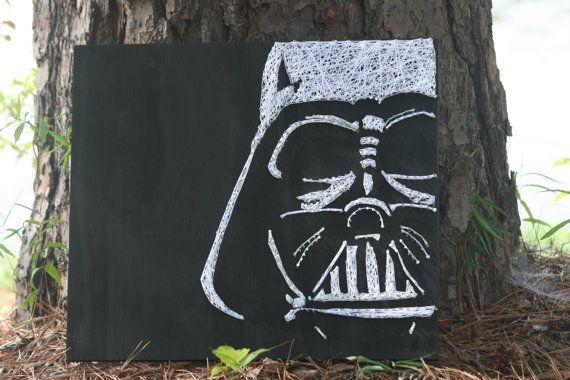 Darth Vader Star Wars String Art by DistantRealms on Etsy; by Rachel Furlough