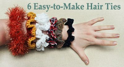 6 Easy-to-Make DIY Hair Ties from Lion Brand