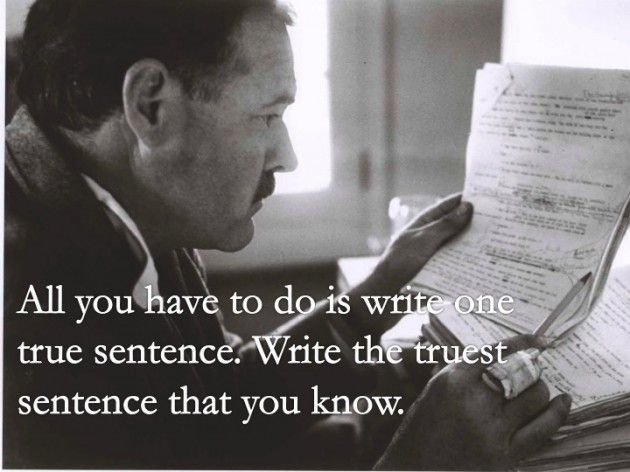 the writing style of ernest hemingway essay Free essay: recognized by the pulitzer prize for literature in 1952 and nobel  prize in literature in 1954, stated oliver he developed a new.