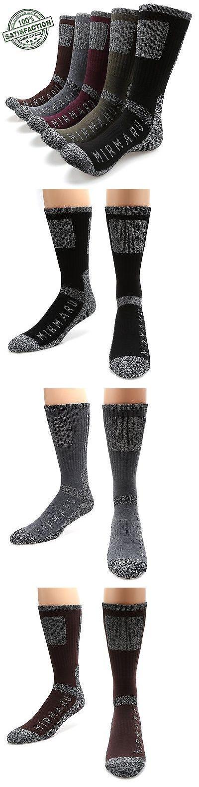 Socks 181362: Mirmaru Mens 5 Pairs Multi Performance Outdoor Sport Hiking Trekking Crew Socks BUY IT NOW ONLY: $36.61