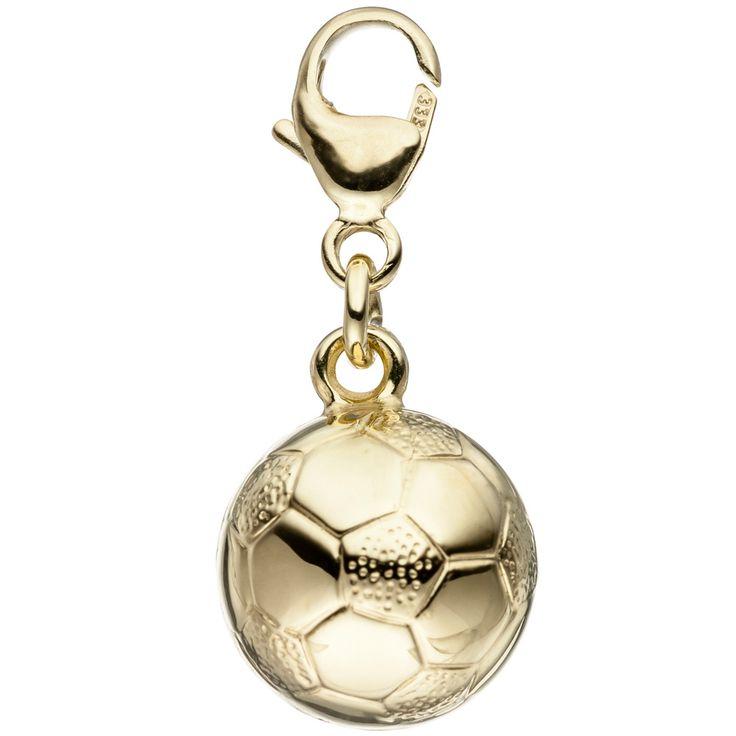Schöner Goldcharm / Goldanhänger: Charm-Anhänger aus Gold Ball / Fußball