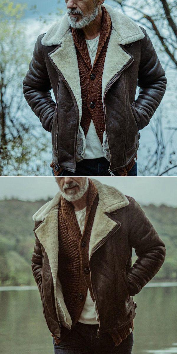 Men S Vintage Lapel Long Sleeve Jacket Only 63 71 Menily Com In 2020 Jackets Leather Jacket Men Vintage Men