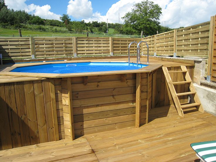 17 best ideas about piscine hors sol on pinterest petite piscine swimming pool steps and - Piscine hors sol bois nortland ...