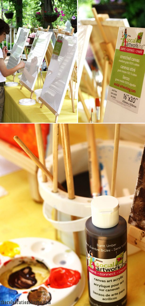 Throw an Art Party!  You worry about the food, and let Social Artworking do the rest! | @kimbyers TheCelebrationShoppe.com