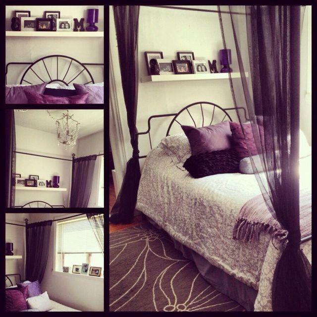 25 best ideas about purple black bedroom on pinterest - Bedroom Ideas With Purple