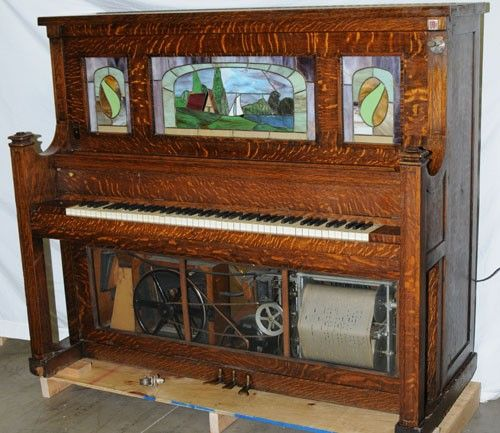 572: WALTHAM COIN OP 10 CENT PLAYER PIANO : Lot 572