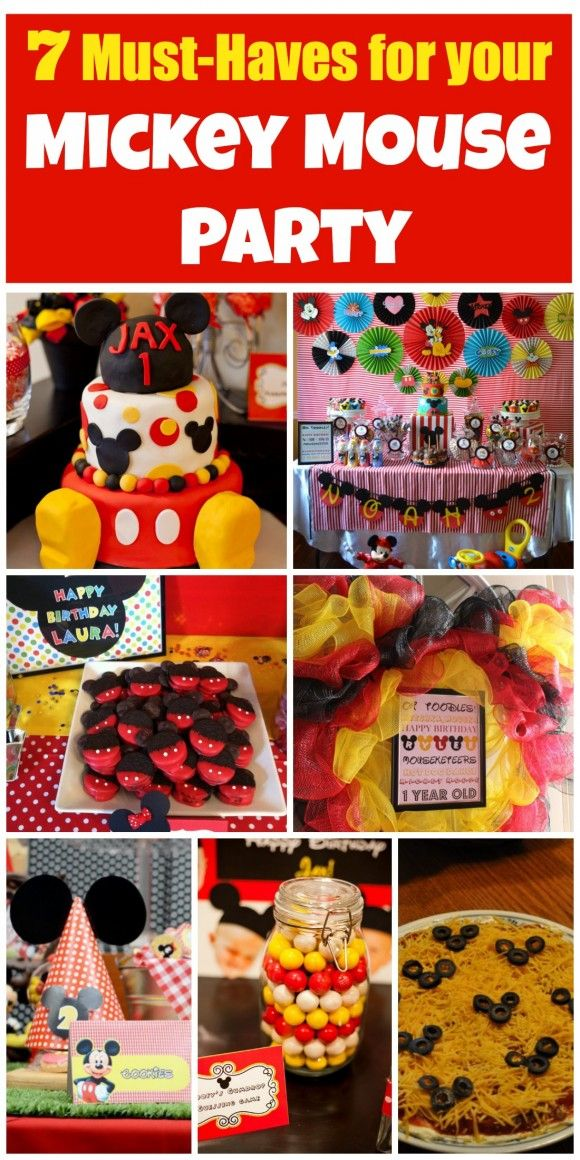 Must-have Mickey Mouse party ideas for a great birthday party! See more party ideas at CatchMyParty.com.
