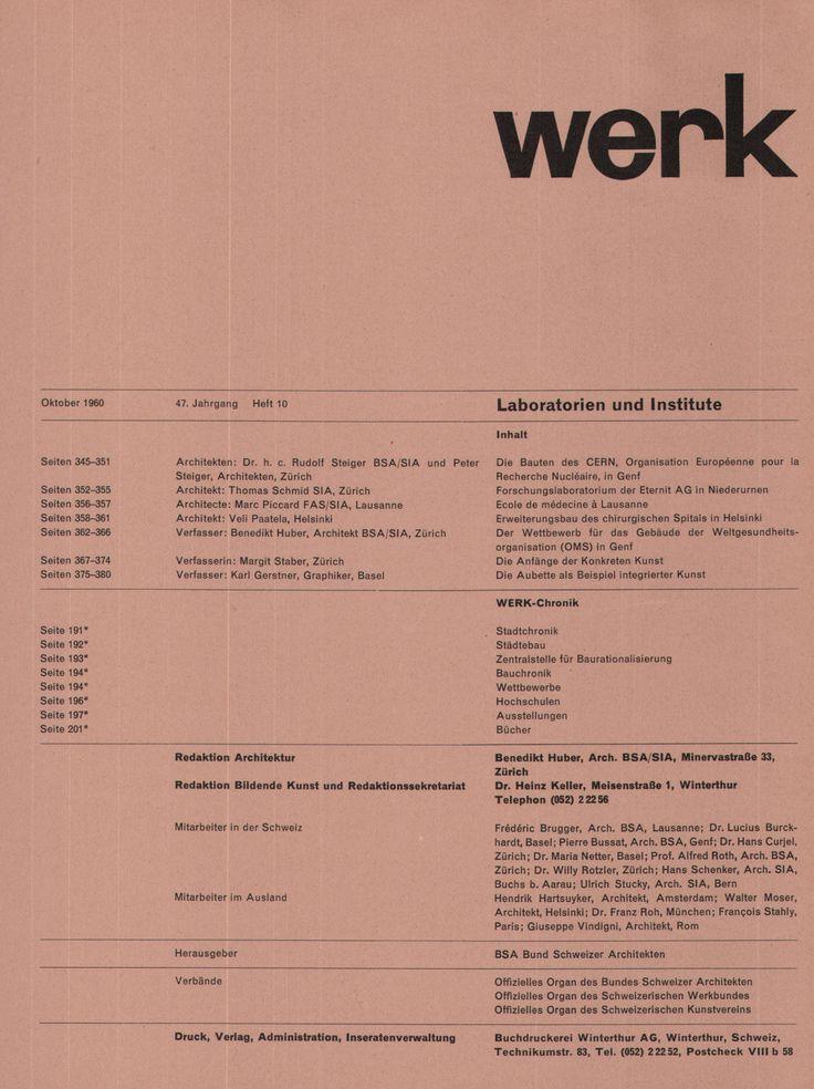 """jonasgrossmann: """"aus """"werk"""" band 47, heft 10, 1960 @ seals """""""