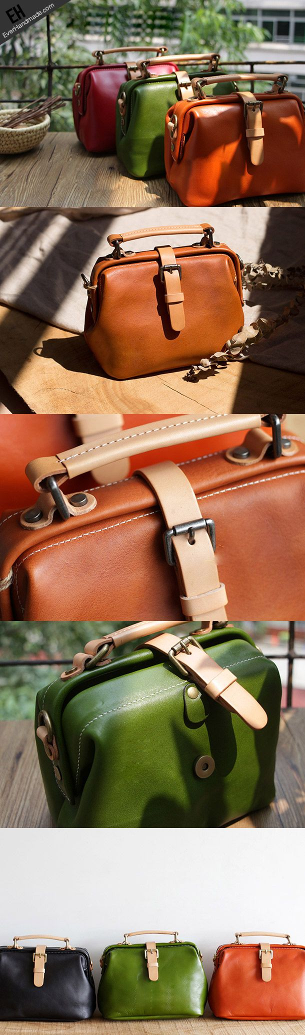 Handmade Leather doctor bag for women leather shoulder bag