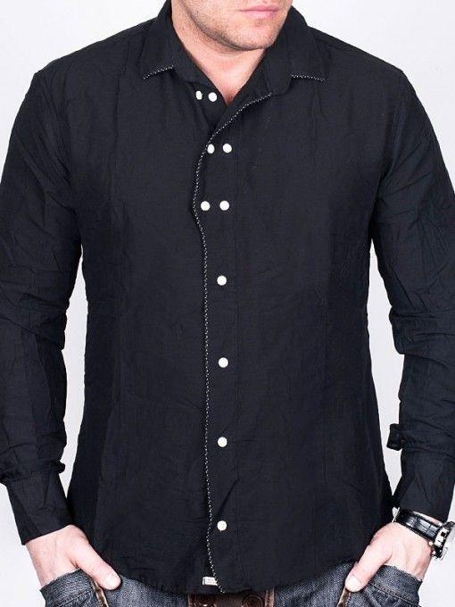 Camasa pentru barbati One2one - neagra - bumbac