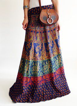 Vintage 1970s Indian hippie skirt