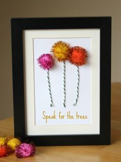 Lorax trees for Dr. Suess themed room