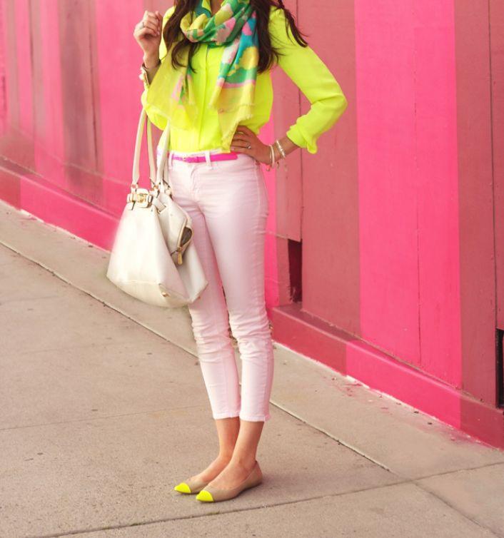 Pretty neon colors