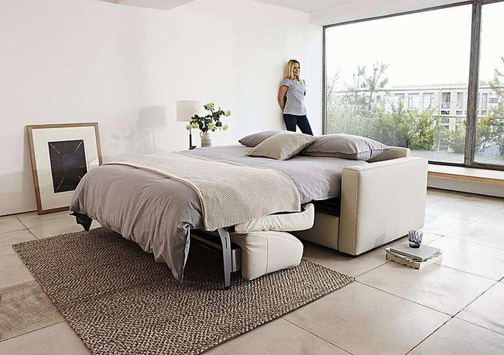 Arona 2 Seater Leather Sofa Bed, Sale £1295